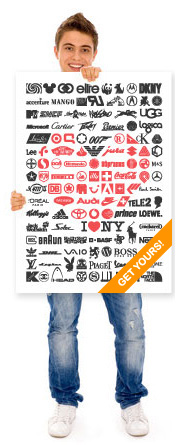 We Love Logos Poster by Pananna