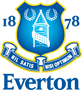 Rated 4.8 the Everton logo