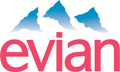 Rated 3.6 the Evian logo
