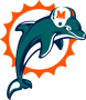 Rated 4.9 the Miami Dolphins logo