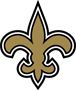 Rated 4.9 the New Orleans Saints logo